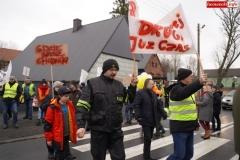 Blokada drogi krajowej - protest w Chmieleniu 12
