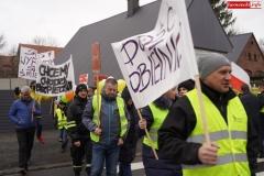 Blokada drogi krajowej - protest w Chmieleniu 13