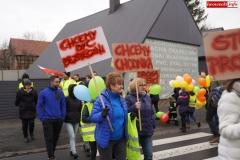 Blokada drogi krajowej - protest w Chmieleniu 15