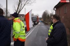 Blokada drogi krajowej - protest w Chmieleniu 16