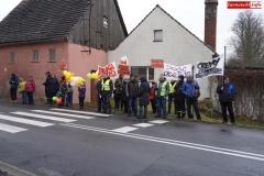 Blokada drogi krajowej - protest w Chmieleniu 17
