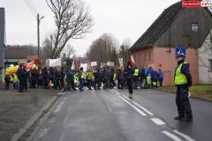 Blokada drogi krajowej - protest w Chmieleniu 19