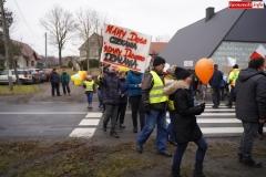 Blokada drogi krajowej - protest w Chmieleniu 22