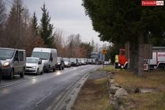 Blokada drogi krajowej - protest w Chmieleniu 23
