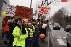 Blokada drogi krajowej - protest w Chmieleniu 24