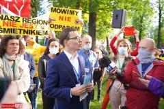 Protest w Mirsku. Stanowcze NIE dla odpadów z Niemiec 02