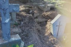 Rozkopany grób na cmentarzu w Lwówku Śląskim 10