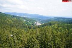 Ścieżka w koronach drzew. Karkonosze Czechy Janské Lázně  (1)