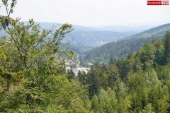 Ścieżka w koronach drzew. Karkonosze Czechy Janské Lázně  (9)