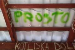 Bohomazy na przystanku Fot. UGiM Lwówek Śląski