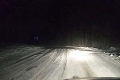 śnieżne wydmy na drogach 3