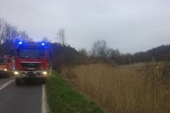 Stracił panowanie nad autem i wylądował w polu. Fot. OSP Płóczki Górne