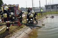 Ćwiczenia strażaków w Magazynie i Rozlewni Gazu w Rakowicach Małych  01