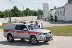 Ćwiczenia strażaków w Magazynie i Rozlewni Gazu w Rakowicach Małych  02