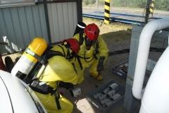 Ćwiczenia strażaków w Magazynie i Rozlewni Gazu w Rakowicach Małych  06