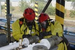Ćwiczenia strażaków w Magazynie i Rozlewni Gazu w Rakowicach Małych  08