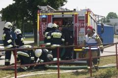 Ćwiczenia strażaków w Magazynie i Rozlewni Gazu w Rakowicach Małych  09