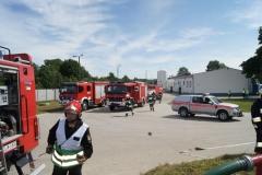 Ćwiczenia strażaków w Magazynie i Rozlewni Gazu w Rakowicach Małych  10