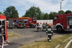 Ćwiczenia strażaków w Magazynie i Rozlewni Gazu w Rakowicach Małych  11