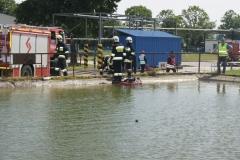 Ćwiczenia strażaków w Magazynie i Rozlewni Gazu w Rakowicach Małych  12