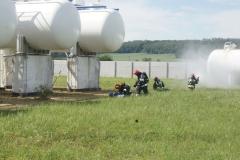 Ćwiczenia strażaków w Magazynie i Rozlewni Gazu w Rakowicach Małych  13