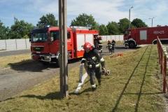 Ćwiczenia strażaków w Magazynie i Rozlewni Gazu w Rakowicach Małych  14