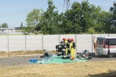 Ćwiczenia strażaków w Magazynie i Rozlewni Gazu w Rakowicach Małych  16