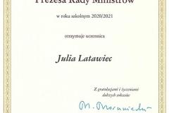 Dyplom Julia