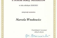 Dyplom Marcela