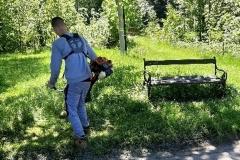 Radni wykosili trawę Świeradów Zdrój 04