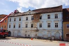 Wali sie budynek w centrum Wlenia 06