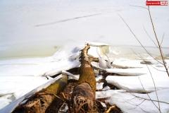 wędkarz lód jezioro pilchowickie 1