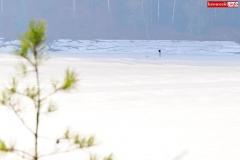 wędkarz lód jezioro pilchowickie 3