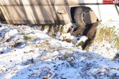 Wypadek w Olesznej Podgórskiej 7