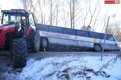 Wypadek w Olesznej Podgórskiej 8