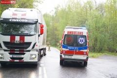 Wypadek w Żerkowicach na DW 297 01