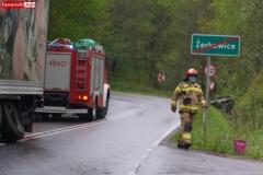 Wypadek w Żerkowicach na DW 297 02