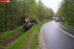 Wypadek w Żerkowicach na DW 297 06