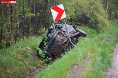 Wypadek w Żerkowicach na DW 297 07