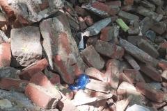Gruz i śmieci w lesie w Bystrzycy 03