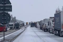 Autostrada zablokowana 4