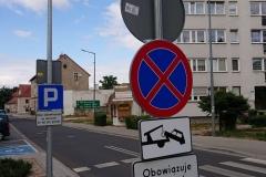Lwówek Śląski zmiana organizacji ruchu zakaz zatrzymywania 06