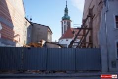 Mirsk Zburzona kamienica nadal czeka na odbudowę 2