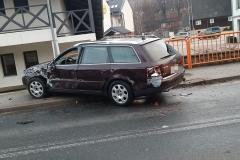Zderzenie busa VW z Audi 3