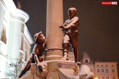 Gryfów Śląski zimowa fontanna