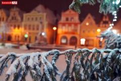 Gryfów Śląski zimowy rynek